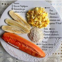 Dica de café da manhã mara super saudável e balanceado da nutri @vanessabaadnutri. Pra acompanhar, ficar perfeito é começar o dia bem, um cafezinho preto☕️  #blogdajuly #dieta #vidasaudavel #emagrecer  #emagrecimento