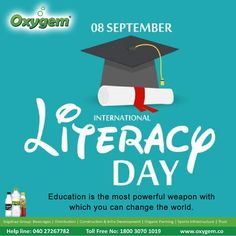 Education is the most powerful weapon with which you can change the world. International Literacy Day, International Day, Pipeline Project, Benefits Of Drinking Water, Regulatory Compliance, Water Branding, Create Awareness, College Campus