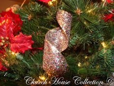 Church House Collection Blog: Shiny Swirly Ornament Toilet Paper Roll Craft For Christmas
