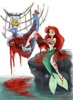 That's one way to do it.... lol #Cinderella #Ariel #twistedDisney