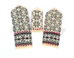 Wolle Handschuhe Hand gestrickte Handschuhe von MittensSocksShop