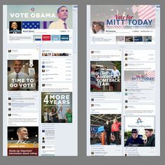 Páginas de Obama y Romney en Facebook