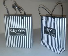 Free Printable City Girl Shopping Bag for your 18 inch doll