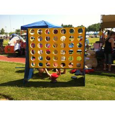 Giant Connect Four game at a Relay For Life team campsite!!!