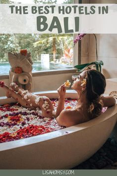Taking a flower bath in Ubud, Bali. Get my list of 10 morning hacks to increase productivity at home or away. Bali Travel Guide, Asia Travel, Travel Guides, Travel Advice, Travel Tips, Hotels And Resorts, Best Hotels, Bucket List Destinations, Travel Destinations