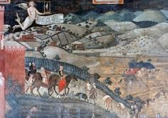 Ambrogio Lorenzetti: Good and Bad Government in Palazzo Pubblico, Siena, Italy. One of the most interesting fresco cycles of the late Middle Ages was painted in the Town Hall of city of Siena. It stands out with its theme representing good and bad city government.