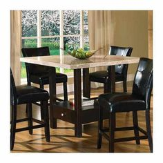 Palazzo Counter Height Dining Table | Monarch Counter Height Dining Table  By Steve Silver (MC4848TPTB