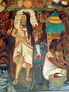 Murals at Palacio Nacional, México City, detail, Diego Rivera