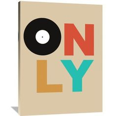 "Naxart 'Only Vinyl Poster 1' Textual Art on Wrapped Canvas Size: 48"" H x 36"" W x 1.5"" D"