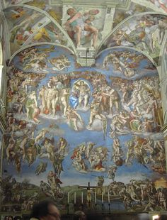 The Last Judgement-Sistene Chapel The absolute most amazing work of art I could ever see or imagine. Glorious!
