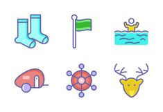 'Camping-Filled Outline' by Camping Icons, Family Camping, Outdoor Camping, Icon Set, Outline, Outdoors, Nature, Naturaleza, Outdoor Living