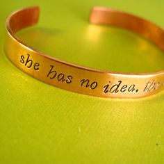 """Peeta, about Katniss: """"She has no idea. The effect she can have"""" Hunger Games Bracelet"""