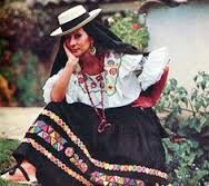 Resultado de imagen para trajes tipicos de colombia pilanderas