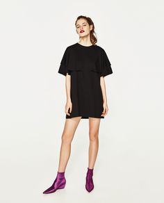 ZARA - TRF - DRESS WITH DOUBLE LAYERED SLEEVES