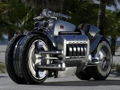The Dodge Tomahawk is a concept motorcycle produced by Dodge. Dodge unveiled the motorcycle with an unusual design, featuring the 500 hp L engine from the Dodge Viper Dodge Viper, Concept Motorcycles, Motorcycles For Sale, Touring Motorcycles, Triumph Motorcycles, Custom Choppers, Custom Bikes, Custom Baggers, Tomahawk Motorcycle