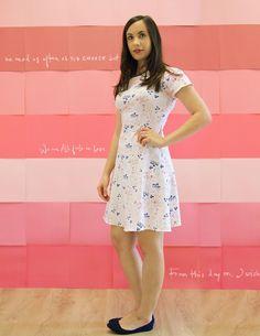 Davie dress by Sewaholic/ Paperie knit