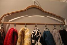Drapery clips as scarf holder