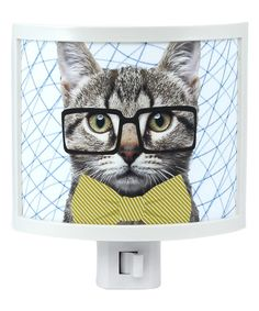 Look at this Hipster Cat Night-Light on #zulily today!
