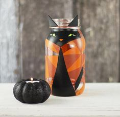 Turn a Mason jar into a simply frightening DIY Halloween accessory with Americana® Multi-Surface Acrylics.