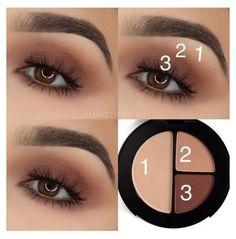 Makeup Eye Looks, Eye Makeup Steps, Simple Eye Makeup, Smokey Eye Makeup, Eyeshadow Makeup, Natural Makeup, Makeup Tips, Face Makeup, Contour Makeup