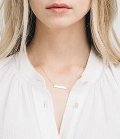 Our premium 14k gold fill, sterling silver, 14k rose gold fill bar can be inscribed with inspiring words, or anything that will fit :). The smaller bar size makes for a more subtle & elegant personalized necklace.   JUDD ∙ B A R ∙ N E C K L A C E by GLDN     W H A T ∙ M A K E S ∙ T H I S ∙ S P E C I A L ____________________________________________________  - we use only the finest quality, USA or Italian sourced raw materials - all components are 100% 14k Gold Fill, Rose Gold Fill or…