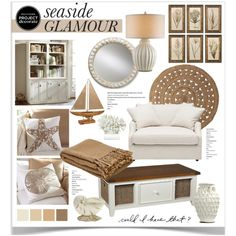 Seaside Glamour With Could I Have That? 4 by jpetersen on Polyvore featuring interior, interiors, interior design, home, home decor, interior decorating, Pottery Barn, Serena & Lily, Williams-Sonoma and ProjectDecorate