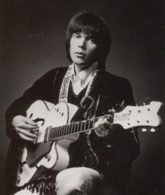 Neil and his Gretsch White Falcon guitar in 1967