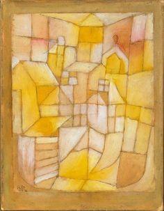 """Paul Klee """"Fenêtres et toits""""."""