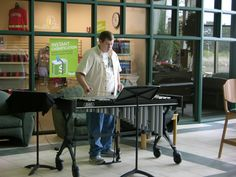 UW-Fond du Lac students open mic performances during the free hour in the University Center Commons (2012).