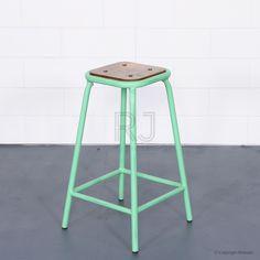 Buy Tall Baez Stool Mint Green Online   Stools   Chairs - Retrojan