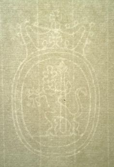 A watermark in a laid paper  hand made at wookie hole.  This one shows a Lion in a Crown shield.  More details on source site.