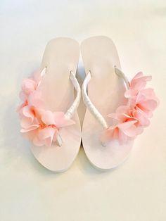 31a1bd447f88c3 Bride Flip Flops Wedges Wedding Flip Flops Shoes Sandals Bridesmaid Flip  flops Beach Wedding Flip Flops Bride Gifts