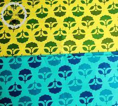 U CHOOSE FAT QUARTER  Fan Flower  Indian Block by ChezviesSupplies, $2.50