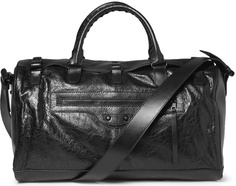 Balenciaga Squash Creased-Leather Holdall Bag