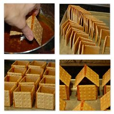 restlessrisa - The trick to making graham cracker houses