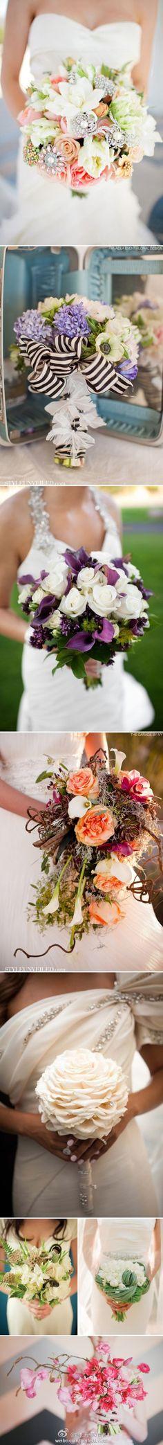 love the 3rd purple cali lilies/white rose boquet...gorgeous
