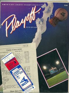 1983 ALCS  Chicago White Sox Playoff Program & ticket stub vs. Baltimore Oriole #ChicagoWhiteSox