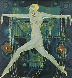 Illustration by F. Tarazona, ca 1925, Teatro Apolo, Velasco, Valencia, Spain.