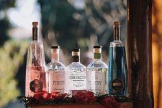 Gin bar at yoru pre-reception drinks! Gin Bar, Reception, Wine, Drinks, Bottle, Drinking, Beverages, Flask, Drink