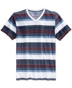 American Rag January Stripe V-Neck T-Shirt, Only at Macy's Fashion Maker, Polo Tees, American Rag, Victoria, V Neck T Shirt, Tank Man, January, Plaid, Mens Fashion