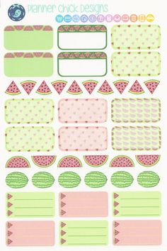 40 Watermelon Stickers! Whether you want to mark your harvest date if you grow it, remind yourself to cut it up, note when you eat it, or