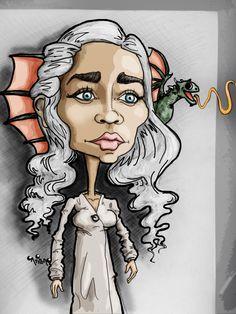 Khaleesi  #caricature #cartoon #illustration #drawing #gameofthrones