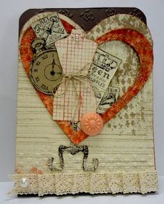 Hello I feel these three stamp sets were made for each other, so that is how I used them. This first card uses Clockworks set, along wi. Birthday Thank You, Birthday Cards, Valentine Day Cards, Valentines, Sewing Cards, Altered Art, Cardmaking, Couture, Stampin Up