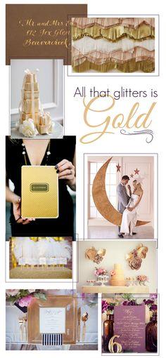 Gold Wedding Inspiration and DIY ideas!