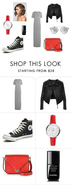 Untitled #12 by juliecoraliesofie on Polyvore featuring Mode, Iris & Ink, Linea Pelle, Converse, Alexander Wang, FOSSIL, Christian Dior and Chanel