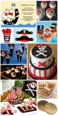Inspiration Board: Pirate Birthday Party Theme