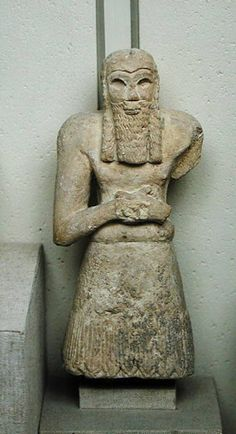 Ginak,Prince of Edin-E,Sumerian,Northern Mesopotamia,3 Millennium BC, limestone Louvre Museum