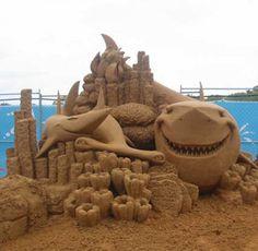 Sea life sand art