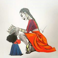 Cool Pencil Drawings, Cowboy Art, Family Goals, Mini Me, Black People, Mommy And Me, Beautiful Artwork, Black Art, Amazing Art