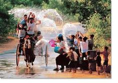 (water festival)  thingyan  festival in burma